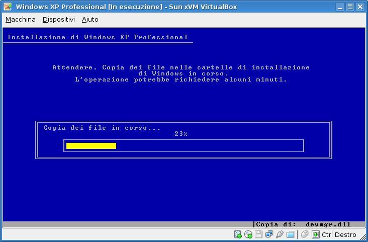Sun xVM VirtualBox sulla mia Debian Etch, step 1