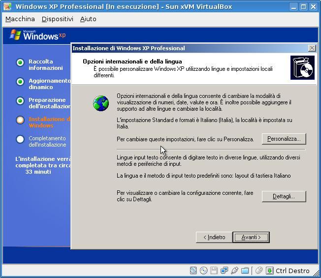Sun xVM VirtualBox sulla mia Debian Etch, step 3