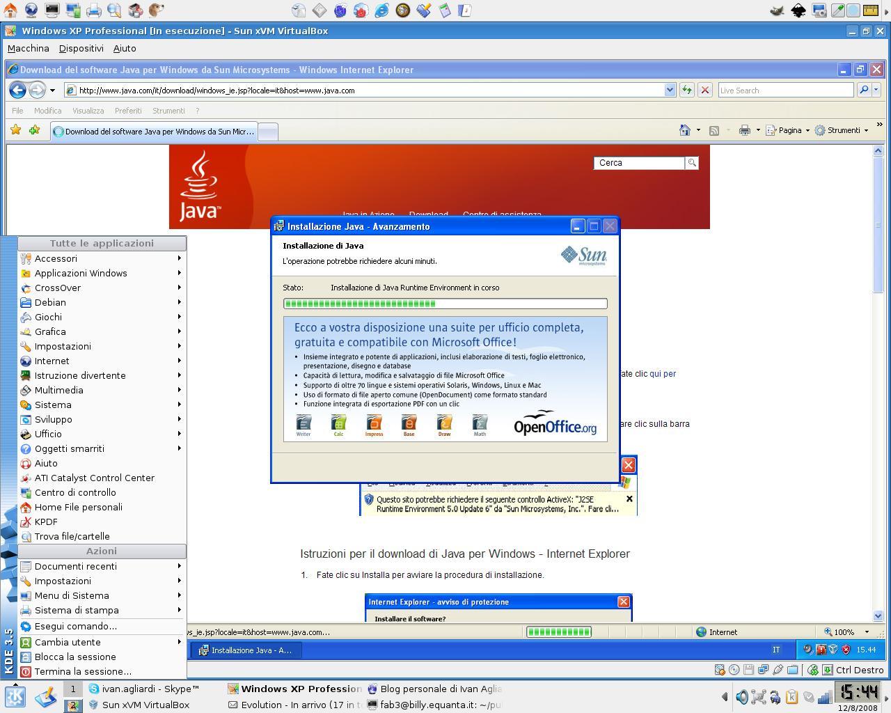 Sun xVM VirtualBox sulla mia Debian Etch, step 6