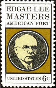 Edgar Lee Masters su di un francobollo...