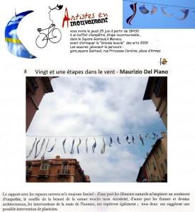 Maurizio Del Piano: Installazione a Monaco per tappa Tour de France 2009