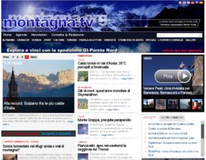 La nuova home page di Montagna.TV